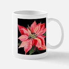 Red Poinsettia Mug