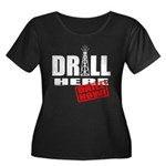 Drill Here and Now Women's Plus Size Scoop Neck Da