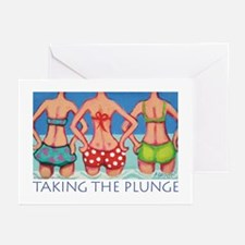 Taking the Plunge - Beach Greeting Cards (Pk of 10