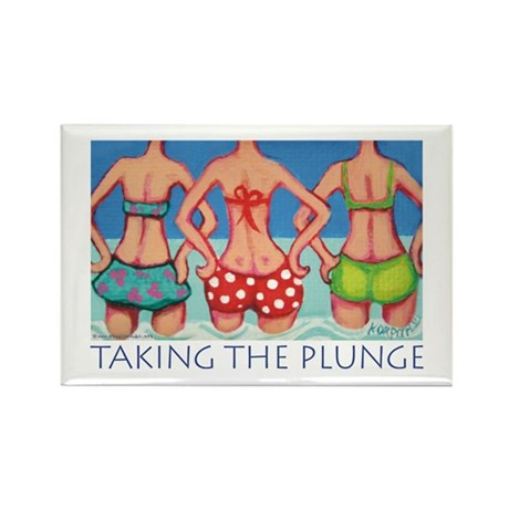 Taking the Plunge - Beach Rectangle Magnet (10 pac