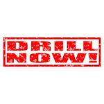Drill Now! Stamped Bumper Sticker (10 pk)