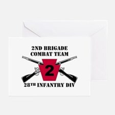 2nd BCT 28th Inf (1) Greeting Cards (Pk of 10)