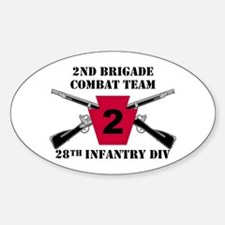 2nd BCT 28th Inf (1) Oval Decal