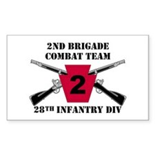 2nd BCT 28th Inf (1) Rectangle Decal