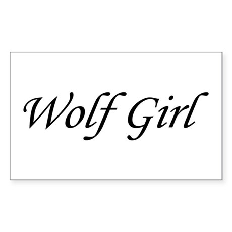 Wolf Girl Rectangle Sticker