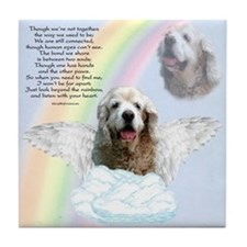 Cocker Spaniel Rainbow Bridge Tile Coaster