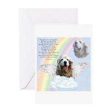 Cocker Spaniel Rainbow Bridge Greeting Card