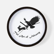 Art of Falconry - Redtail hawk Wall Clock
