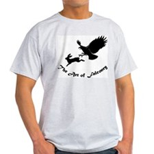 Art of Falconry - Redtail hawk Ash Grey T-Shirt