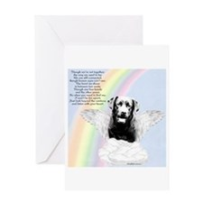 Lab Rainbow Bridge Greeting Card