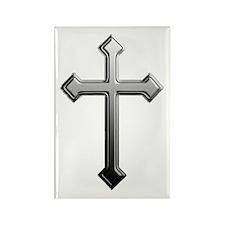 Chrome Cross - Rectangle Magnet