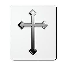 Chrome Cross - Mousepad
