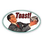 Toast! Oval Sticker (10 pk)