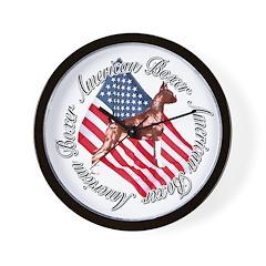 American Boxer Wall Clock