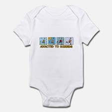 Addicted to running (man) Infant Bodysuit