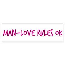 Man-Love Rules Ok Bumper Sticker (10 pk)