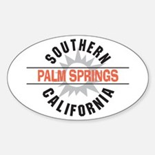 Palm Springs California Oval Decal