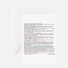 Hacker's Manifesto Greeting Cards (Pk of 10)