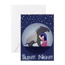 Tapir's Silent Night Greeting Card