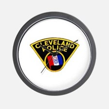 Cleveland Police Wall Clock