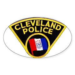 Cleveland Police Oval Sticker (10 pk)