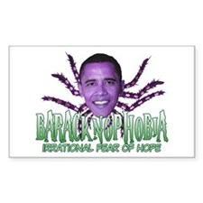 Baracknophobia Rectangle Decal