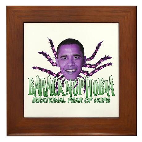 Baracknophobia Framed Tile