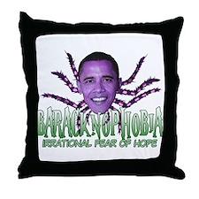 Baracknophobia Throw Pillow