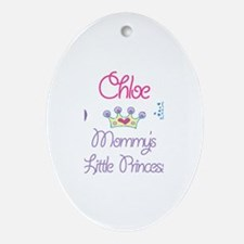Chloe - Mommy's Princess Oval Ornament