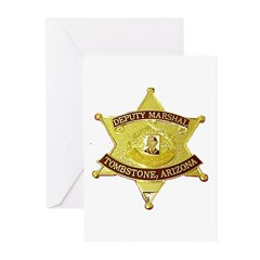 Tombstone Marshal Greeting Cards (Pk of 10)