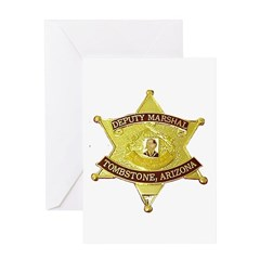 Tombstone Marshal Greeting Card