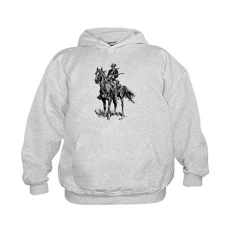 Old Bill Cavalry Mascot Kids Hoodie
