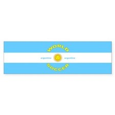 Argentina World Cup Soccer Bumper Bumper Sticker