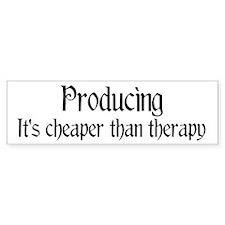 Producing therapy Bumper Bumper Sticker