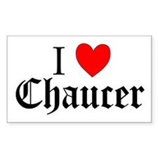 I Love Chaucer Rectangle Decal