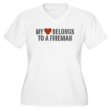 My Heart Belongs to a Fireman T-Shirt