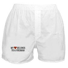 My Heart Belongs to a Fireman Boxer Shorts