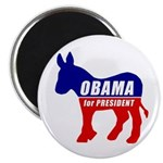 "Obama Democrat Donkey 2.25"" Magnet (10 pack)"