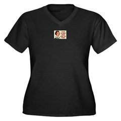 I TASTE SO GOOD... Women's Plus Size V-Neck Dark T