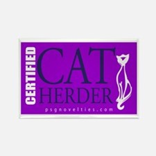 Cat Herder 2 Purple web png Magnets