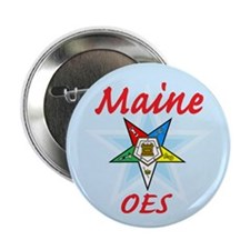 "Maine Eastern Star 2.25"" Button"