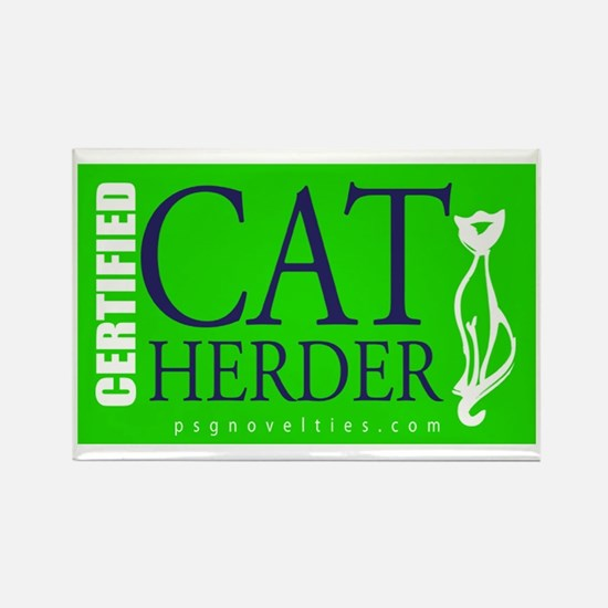 Cat Herder 2 Green web png Magnets