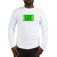 Cat Herder 2 Green web png Long Sleeve T-Shirt