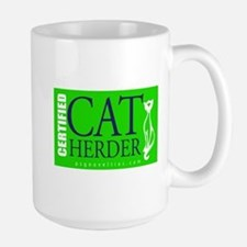 Cat Herder 2 Green web png Mugs