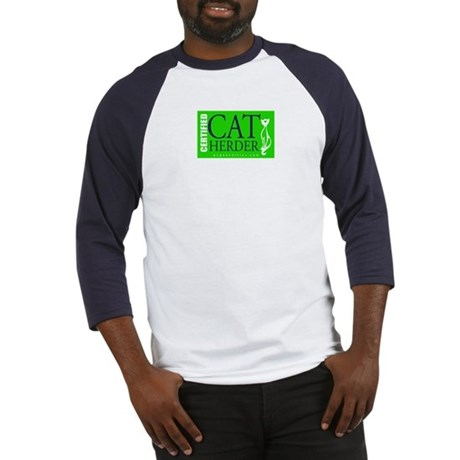 Cat Herder 2 Green web png Baseball Jersey