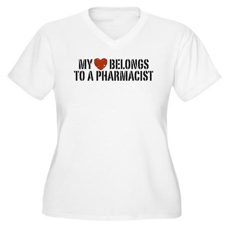 My Heart Belongs to a Pharmacist Women's Plus Size