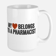 My Heart Belongs to a Pharmacist Large Mug