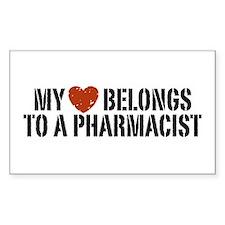 My Heart Belongs to a Pharmacist Decal