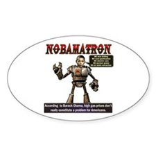 OBAMATRON Oval Decal