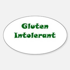 Gluten Intolerant Oval Decal